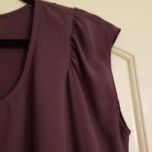 Pleione Tops - Pleion blouse dark lavender color